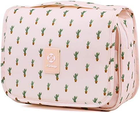 Hanging Travel Toiletry Bag Cosmetic Make up Organizer for Women and Girls Waterproof (Cactus) 3