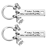 2PCs New Home Keychain 2019 Housewarming Gift for New Homeowner House Keyring Moving in Key Chain New Home Owners Jewelry from Real Estate Agent