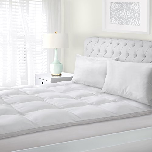 Superior-Twin-Mattress-Topper-Hypoallergenic-White-Down-Alternative-Featherbed-Mattress-Pad-Plush-Overfilled-and-2-Thick