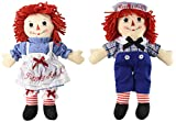 Aurora Bundle of 2 Dolls - Large 16'' Classic Raggedy Ann and Raggedy Andy