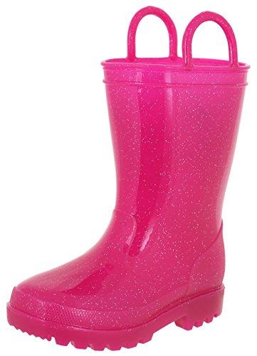 Capelli New York Toddler Girls Allover Glitter Rain Boot Pink 6/7