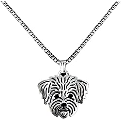 Cute Maltese Dog pendant Silver Plated Pet Maltese Dog Pendant Necklace for Dog Lovers (251S)