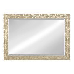 Kate and Laurel Coolidge Framed Beveled Wall Mirror, 29×41, Champagne Gold