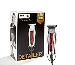 Wahl Professional Series Detailer #8081 - With Adjustable T-Blade, 3 Trimming Guides (1/16 inch - 1/4 inch), Red Blade Guard, Oil, Cleaning Brush and Operating Instructions, 5-Inch  Image