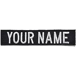 Custom Nylon/Cotton Webbing Name Tape with Hook Fastener - Black