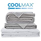 Degrees of Comfort Weighted Blanket w/ 2 Duvet Covers for Hot & Cold Sleepers|Advanced Nano-Ceramic Beads Deliver Durability & Silky Comfort (60x80 25lbs, Grey)