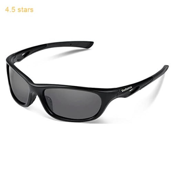 9698f190bba Duduma Polarized Sports Sunglasses for Men Women Baseball Running Cycling  Fishing Driving Golf Unbreakable Frame Du646 (Black matte frame with black  lens)