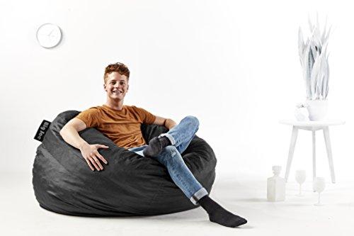 Big Joe Fuf Foam Filled Bean Bag Chair Large Black Lenox