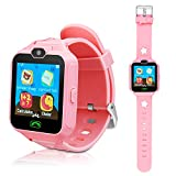 Kids Smart Cell Phone Watch,Smart Watch Phone for Boys Girls with SIM and SD Slot,Unlocked Waterproof SOS Phone Watch with Camera Games Touchscreen Children Cell Watch Holiday Birthday Gift