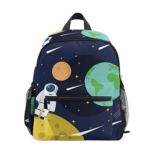 Bolso escolar infantil con diseño de estrellas espaciales, mochilas preescolares, mochilas de viaje...