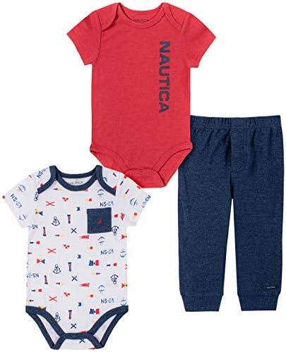 41nBycmF3dL. AC  - Nautica Sets (KHQ) - Conjunto de Pantalones para bebé y niño #Amazon
