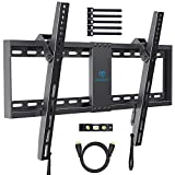 PERLESMITH Tilt Low Profile TV Wall Mount Bracket for Most 32-70 inch LED, LCD, OLED and Plasma Flat Screen TVs - Fits 16'- 24' Wood Studs, Tilting TV Mount with VESA 600 x 400mm Holds up to132lbs