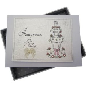White Cotton Cards Honeymoon Photos Tiny Album Cake Design 41nGUEFGQJL