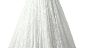 2ad1d0700698d SOLOVEDRESS Women's Ball Gown Lace Princess Wedding Dress 2017 Sash Beaded Bridal  Evening Gown