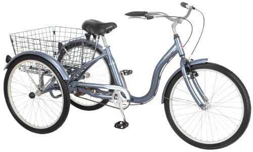 Schwinn Meridian Adult Tricycle, 24-Inch Wheels, Slate Blue