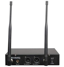 innopow-80-Channel-Dual-UHF-Wireless-Microphone-Systeminp-Cordless-mic-Set-2-Headset-2-Lapel-Lavalier-Microphone-Long-Distance-200-240Ft-Prevent-Interference16-Hours-Use-for-Church-Weddings