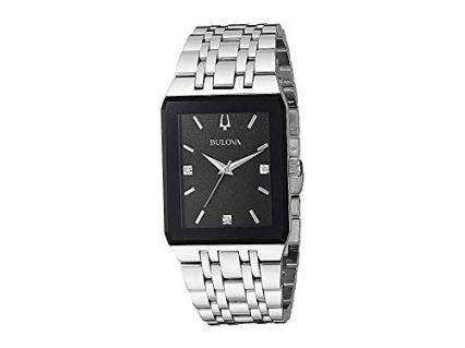 Bulova Men's Quadra - 96D145 Steel One Size
