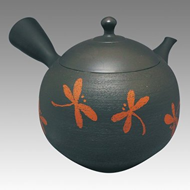 TOKYO MATCHA SELECTION - Tokoname Kyusu teapot - SHORYU - Nota-uchi Dragonfly 730cc/ml - ceramic fine mesh [Standard ship by EMS: with Tracking & Insurance]