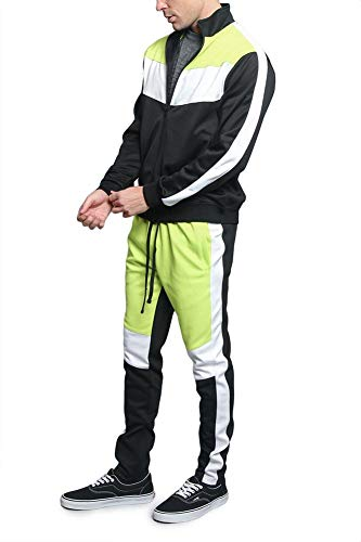 G-Style USA Men's Side Stripe Zipper Jacket Drawstring Waistband Tracksuit 2 Fashion Online Shop gifts for her gifts for him womens full figure
