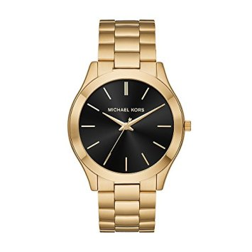Michael Kors Men's Slim Runway Quartz Stainless-Steel Strap, Gold, 22 Casual Watch (Model: MK8621)