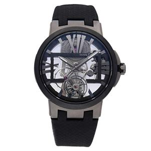Ulysse Nardin Executive Mechanical (Hand-Winding) Skeletonized Dial Mens Watch 1713-139 (Certified Pre-Owned)