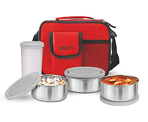 Milton-Steel-Combi-Lunch-Box-with-Tumbler-4-Pieces-Red
