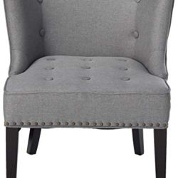 Christopher Knight Home Adelina Fabric Occaisional Chair, Grey