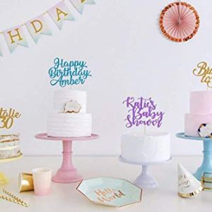 Custom Name any Text Personalised Cake Topper. Birthday Party Decorations. Birthday or Wedding Party. Glitter Colours. Cake Decoration. Wedding Decorations. 41nVUe8lqOL