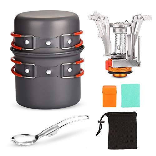 Odoland - Soporte de acero inoxidable para estufa de cocina, con mosquetón, trípode y soporte para...