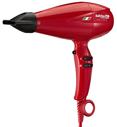 BaBylissPRO Nano Titanium Volare V1 Ferrari-Designed Engine Full-Size Dryer, Red, 3 lb.