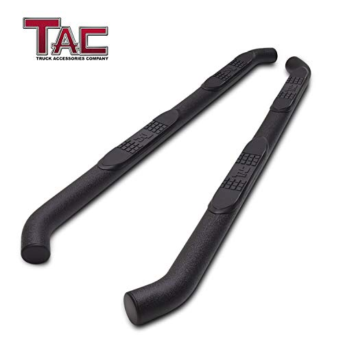 "TAC Side Steps Running Boards Fit 2005-2019 Toyota Tacoma Double Cab Truck Pickup 3"" Texture Black Side Bars Nerf Bars Off Road Accessories"