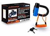 Heavy Duty Anti Theft Motorcycle Disc Lock That Stops Thieves Dead In Their Tracks! Fits all Bikes and most Mopeds & Scooters. From BigPantha (Blue).