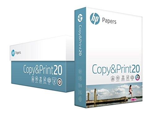 HP Printer Paper, Copy and Print, 20lb, 8.5 x 11, Letter, 92 Bright - 4,000 Sheets / 8 Ream Carton (200170C) Made In The USA