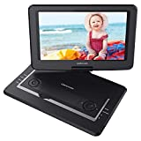 DBPOWER 14' Portable DVD Player with Rechargeable Battery, Swivel Screen, Supports SD Card and USB, with 1.8M Car Charger and 1.8M Power Adaptor (Black)