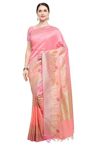 Varkala Silk Sarees Women's Kanchipuram Katan Silk Saree With Blouse Piece
