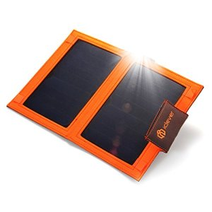 iClever 8000mah Solar External Battery Charger 12W Solar Panel with SmartID USB Port