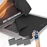 Clean Screen Wizard Microfiber Screen Keyboard Cleaner and Laptop Screen Keyboard Protector/Cloths Keyboard Covers for MacBook Pro 15, Laptops 15', 15.6 Screen - 4 Pack Bundle (Space Gray)