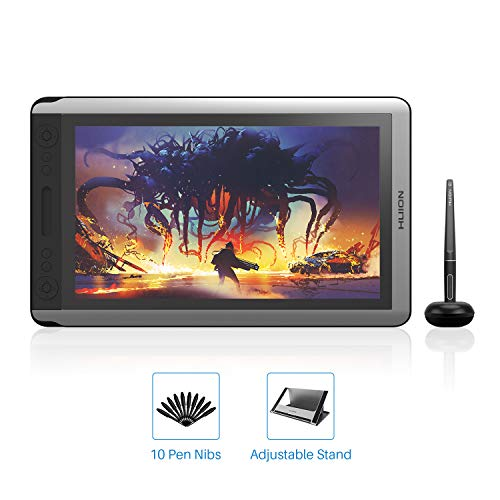 2019 HUION KAMVAS 16 Drawing Tablet with Screen, Battery Free Drawing Monitor with 8192 Pressure Sensitivity, Tilt Function, 14 Express Keys and Touch Bar, Digital Graphics Tablet for Windows Mac