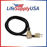 12/3 3ft SJTW 15 Amp 125 Volt 1875 Watt Lighted End Indoor/Outdoor Black Heavy Duty Extension Cord (3 Feet)
