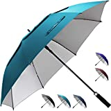 ZEKAR 54/62/68 inch Windproof Large Vented Golf Umbrella, Classic UV Protection Stick Umbrella, Double Canopy Rain and Sun Umbrellas 68-inch
