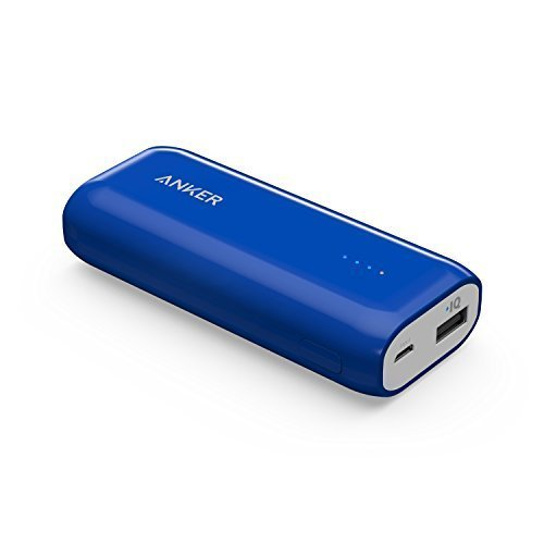 Anker Astro E1 5200mAh Candy bar-Sized Ultra Compact Portable Charger (External Battery Power Bank) with High-Speed Charging PowerIQ Technology (Blue)