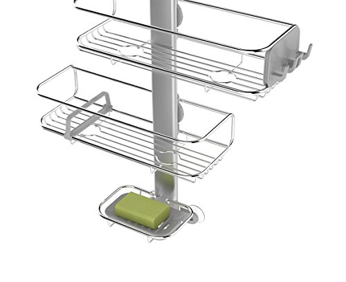 simplehuman Adjustable, Hanging Shower Caddy, Stainless Steel and ...