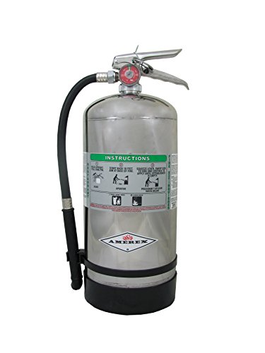 "Amerex B260, 6 Liter Wet Chemical Class A K Fire Extinguisher, Ideal For ""KITCHEN USE"""