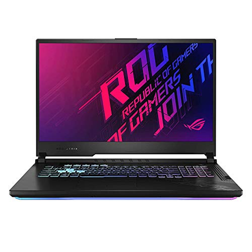 Asus Gaming Laptop ROG Strix G17 i7-10750H(16 Gb Ram,1T SSD,17.3 FHD-144hz,GTX1660Ti-6GB,RGB Backlit-4 Zone,WIFI6,WIN10,,Black Plastic),G712LU-EV002T