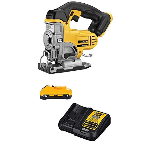 DEWALT 20V MAX Jigsaw with 3Ah Battery & Charger Kit (DCS331B & DCB230C)