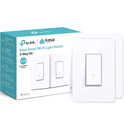 Kasa-Smart-HS210-KIT-3-Way-Smart-Switch-Kit-by-TP-Link-Wi-Fi-Light-Switch-works-with-Alexa-and-Google-Home-Neutral-Wire-Required-No-Hub-Required-UL-Certified-2-Pack