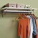 Arrange A Space Arrrange a Space RCMSY Best 56' Single Shelf/Hang Rod Kit White Closet System,