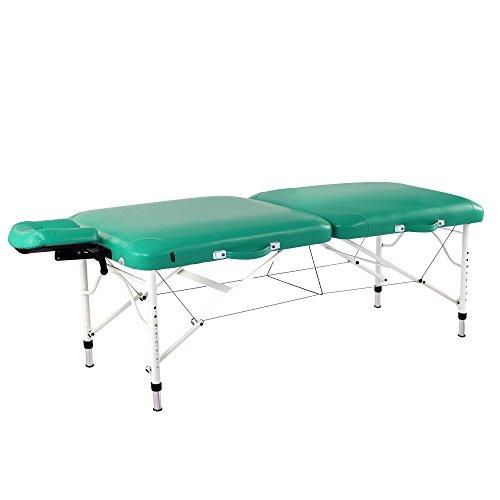 Master Massage 30' Ultra Lightweight Calypso Aluminum Portable Massage Table Package, Emerald Green