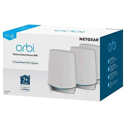NETGEAR-Orbi-RBK753-High-Performance-Whole-Home-Mesh-WiFi-System-3-Pack-Includes-1-Router-2-Satellites-White