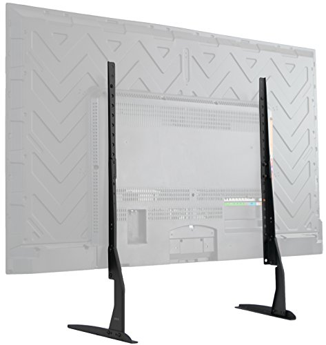 VIVO Universal LCD Flat Screen TV Table Top VESA Mount Stand Black | Base fits 22' to 65' (STAND-TV00Y)
